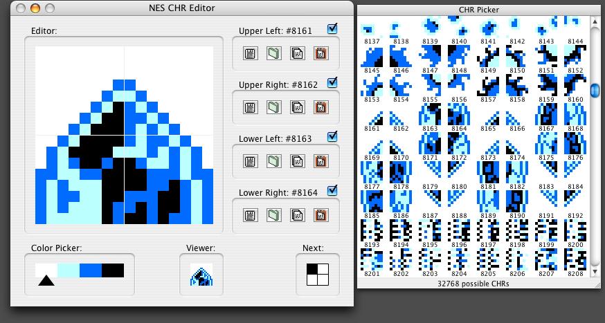 NES CHR Editor: Screenshots